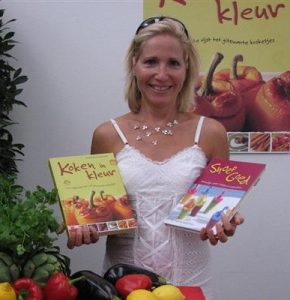author Vardit Kohn with her two cookbooks